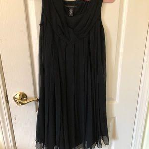 Diane von Furnstenberg Black silk baby doll dress